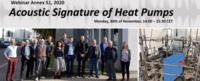 """Webinaire du projet """"Acoustic Signature of Heat Pumps"""""""